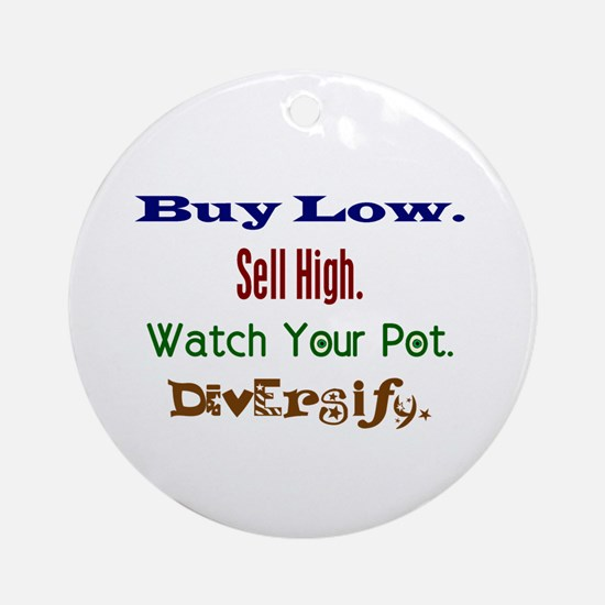 Buy Low Ornament (Round)