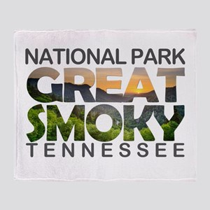 Great Smoky Mountains - Tennessee, N Throw Blanket