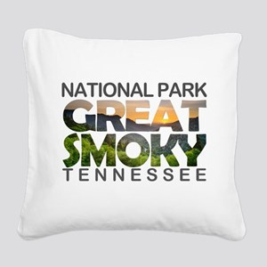 Great Smoky Mountains - Tenne Square Canvas Pillow