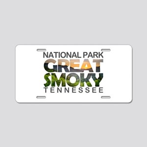 Great Smoky Mountains - Ten Aluminum License Plate