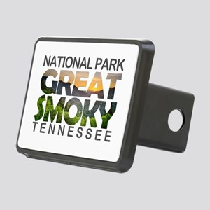 Great Smoky Mountains - Te Rectangular Hitch Cover