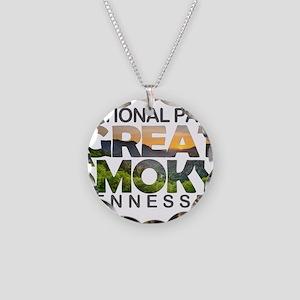 Great Smoky Mountains - Tenn Necklace Circle Charm