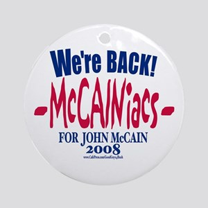 McCainiacs for John 2008 Keepsake (Round)