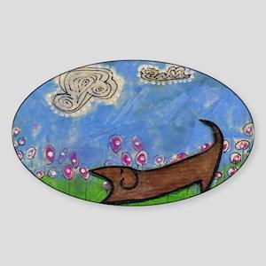 Dogma! Down Dog Oval Sticker