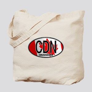 Canada Oval Colors Tote Bag