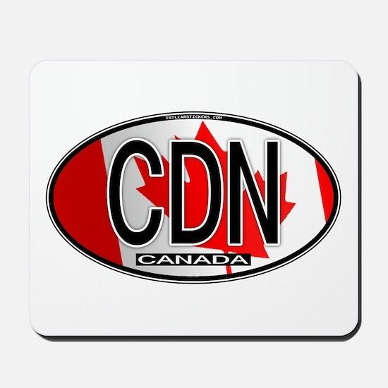 Canada Oval Colors Mousepad