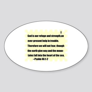 GOD IS OUR REFUGE AND STRENGTH Oval Sticker