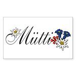 Dear Mutti Rectangle Sticker 10 pk)