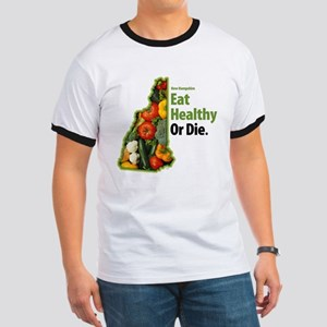 NH - Eat Healthy Or Die Ringer T
