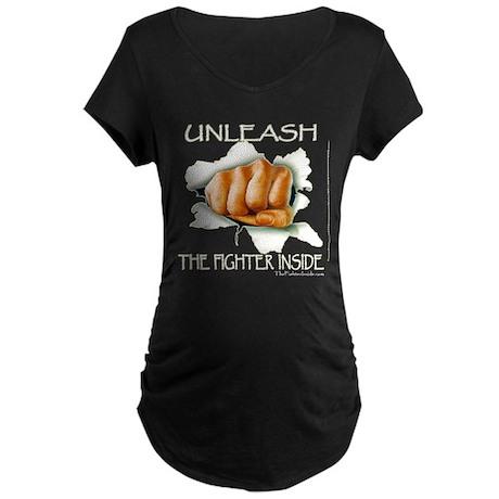 Unleash The Fighter Inside Maternity Dark T-Shirt