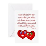 Hearts for God Greeting Card