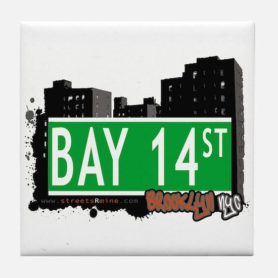 BAY 14 STREET, BROOKLYN, NYC Tile Coaster
