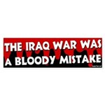 Iraq War Bloody Mistake Bumper Sticker