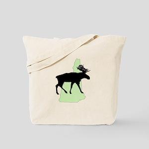 New Hampshire Moose Reusable Canvas Tote Bag
