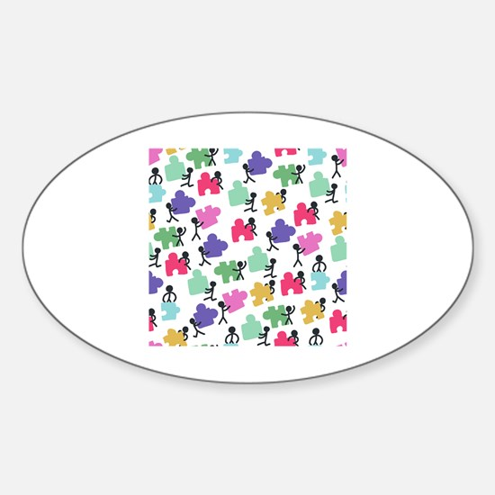 Cute Autistic advocacy Sticker (Oval)