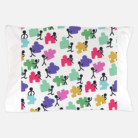 autistic people Pillow Case