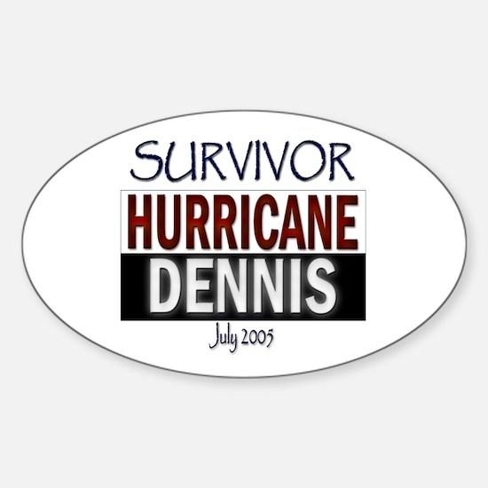 Survivor Hurricane Dennis Oval Decal
