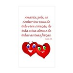 Hearts for God Rectangle Sticker 50 pk)