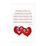 Hearts for God Rectangle Sticker 10 pk)