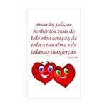 Hearts for God Rectangle Sticker