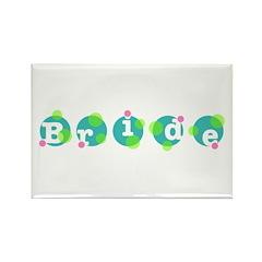 Retro Dots Bride Design Rectangle Magnet