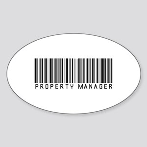Property Manager Barcode Oval Sticker