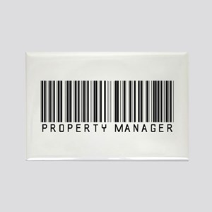 Property Manager Barcode Rectangle Magnet
