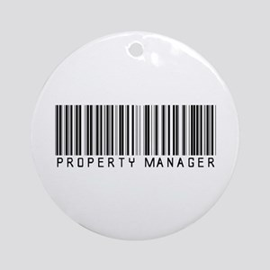 Property Manager Barcode Ornament (Round)