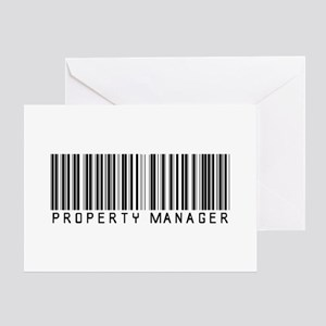 Property Manager Barcode Greeting Card