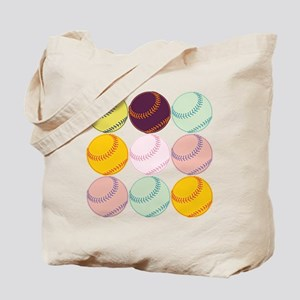 Watercolor Softballs Tote Bag