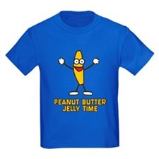 Peanut Butter Jelly Time Kids Dark T-Shirt