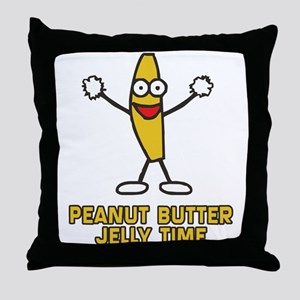 Peanut Butter Jelly Time Throw Pillow