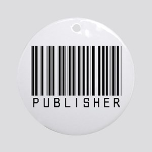 Publisher Barcode Ornament (Round)