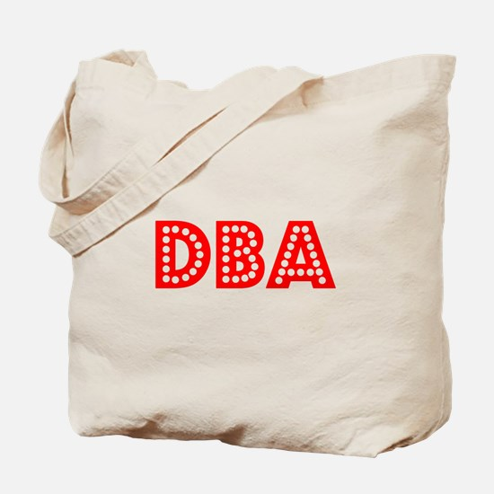 Retro DBA (Red) Tote Bag