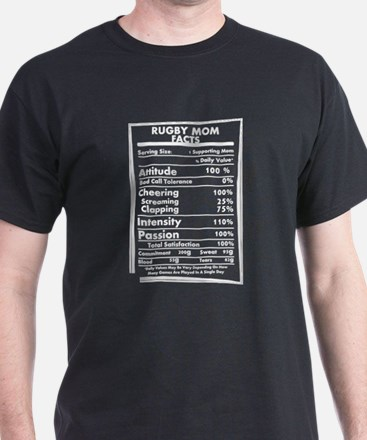 Rugby Mom Facts Daily Values May Be Vary T-Shirt