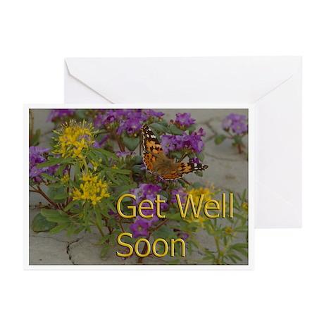 Get Well Desert Flowers Greeting Cards (Pk of 10)