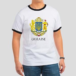 Ukraine Coat of Arms Ringer T