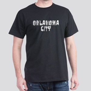 Oklahoma City Faded (Silver) Dark T-Shirt