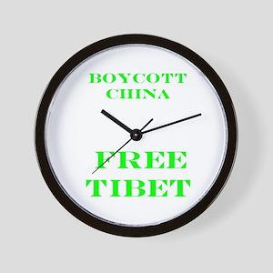 BOYCOTT CHINA-FREE TIBET Wall Clock
