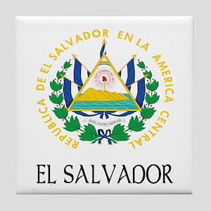 El Salvador Coat of Arms Tile Coaster