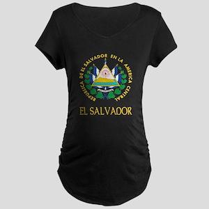 El Salvador Coat of Arms Maternity Dark T-Shirt