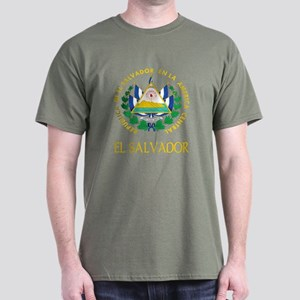 El Salvador Coat of Arms Dark T-Shirt