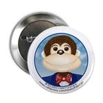 "Monkey 2.25"" Button (1 pack)"