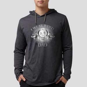 I Wear White for my Dad (flor Long Sleeve T-Shirt