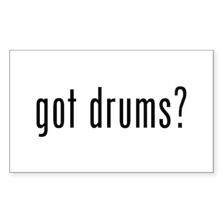Got Drums? Rectangle Sticker