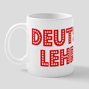 Retro Deutsch Leh.. (Red) Mug