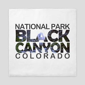 Black Canyon of the Gunnison - Colorad Queen Duvet
