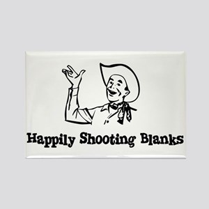Happily Shooting Blanks Rectangle Magnet