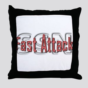Fast Attack -- SSN Throw Pillow