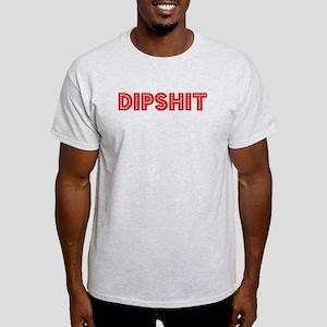 Retro Dipshit (Red) Light T-Shirt